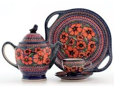 Polish Pottery - love this pattern!: