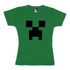 Minecraft Creeper Babydoll T-Shirt $US 20.99. thinkgeek.com suggested by Mimbles - The Kids Are All Right Forum member.