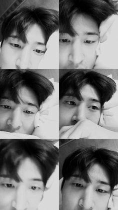 Those eyes😍😍😍😍 Kim Hanbin Ikon, Chanwoo Ikon, Ikon Kpop, Eunji Apink, Ikon Wallpaper, Screen Wallpaper, Ikon Member, Yg Entertainment, One And Only