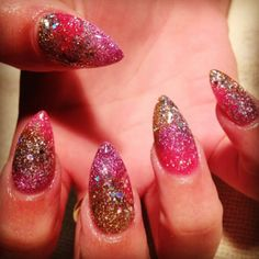 Designs for Long or Stiletto Nails, Long Nails, Oval Nail, Stiletto Nails, Glitter Manicure, Nail Art, Nail trends, NAILPRO Magazine