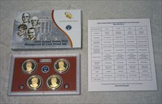 2015 US MINT PRESIDENTIAL $1 COIN PROOF SET WITH BOX/COA 4 PRESIDENT PROOF COINS