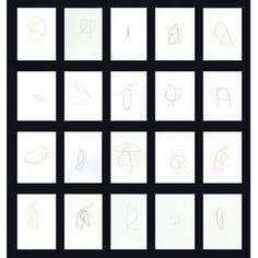 Waltércio Caldas Sem título - Conjunto de 20 gravuras   42 x 32,5