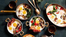 Baked Eggs Egg Recipes For Breakfast, Breakfast Items, Brunch Recipes, Savory Breakfast, Breakfast Cake, Brunch Ideas, Good Morning Breakfast, Morning Food, Holiday Recipes