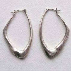 Wing Earrings Sterling by Carrie Bilbo Art Jewelry