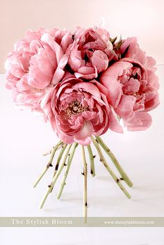 Pink Peonies bouquet | More wedding flower ideas in L'esprit… | Flickr - Photo Sharing!