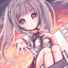 Anime Pixel Art, Anime Art, Cute Profile Pictures, Cute Pictures, Pixel Drawing, Pixel Art Games, Animal Sketches, Anime Girl Cute, Cool Drawings