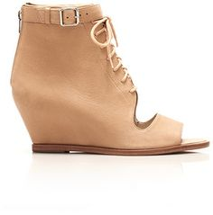 Loeffler Randall Angie cut-out wedge bootie on shopstyle.com