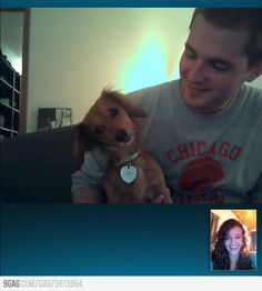 When my dog see me on skype she ignores me and wants to go back playing.