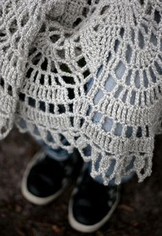 crocheted throw by namolio