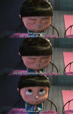 despicable me - it makes me so happy that they pray in this movie.