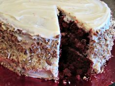 Red Velvet Carrot Cake with Cream Cheese Frosting