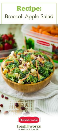 Love serving up a fresh and flavorful salad for every occasion this spring? Stock your fridge with the produce you need for this Healthy Broccoli Apple Salad recipe Apple Salad Recipes, Healthy Salad Recipes, Healthy Snacks, Vegetarian Recipes, Healthy Eating, Cooking Recipes, Cooking Ideas, Healthy Drinks, Healthy Meal Prep
