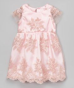 Look what I found on #zulily! Pink Lace-Overlay Dress - Infant, Toddler & Girls #zulilyfinds