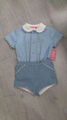 Conjunto bebé Baby Boy Dress, Baby Boy Outfits, Kids Outfits, Little Boy Fashion, Baby Boy Fashion, Baby Dress Patterns, Baby Sewing, Look, Dimples