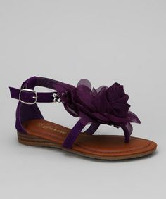 Take a look at this Purple Fresh-25 Sandal by Carrie on #zulily today!