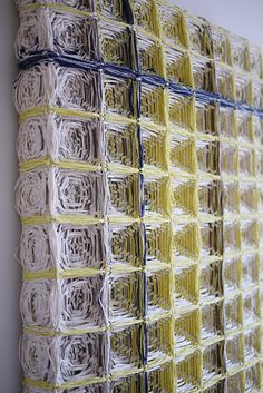 Woven Tiles - 3D textile design using dyed kiro cloth to create repeating patterns - textile manipulation // Hiroko Takeda