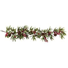 Nearly Natural Faux Holly Berry Garland