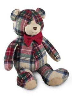 Cute little tartan bear! Sewing Crafts, Sewing Projects, Style Anglais, Tartan Fashion, Tartan Kilt, Blankets For Sale, Scottish Tartans, Plaid Christmas, Red Plaid