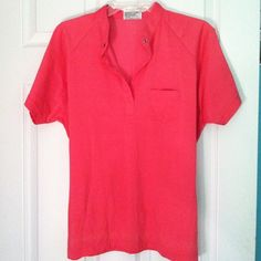 very cute hot pink top button on top and small pocket on front. cute with just a pair or jeans or formal pants Tops