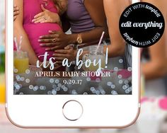 Affiliate - Its a Boy Baby Shower Snapchat Geofilter Snapchat Baby Shower