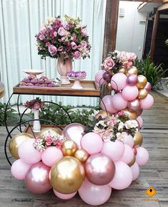 DIY Balloon Garland Kit // Pink Gold Rose Chrome Balloon Arches // Balloon Garland // Reception // Party Celebration Decor // Birthday - Decoration For Home Blowing Up Balloons, Confetti Balloons, Balloon Garland, Balloon Arch, Balloon Decorations, Birthday Decorations, Wedding Decorations, Diy Garland, Boda Vintage Ideas