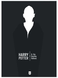 """Mock movie poster for Harry Potter and the Deathly Hallows - """"Harry Postters"""" by Hexagonall, via Behance Harry Potter Poster, Harry Potter Love, Hogwarts, Gina Weasley, Hp Book, Minimal Movie Posters, Alternative Movie Posters, Mischief Managed, Flyer"""