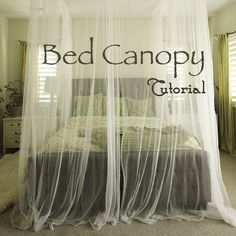Step by step diy guid to crate your own canopy. Love this, definitely going to do this in my spare bedroom.