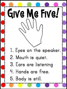 Give Me Five Poster (FREEBIE)