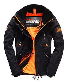 Superdry Men's Wind Attacker Jacket Black/Fluro Orange Large Superdry ++You can get best price to buy this with big discount just for you.++