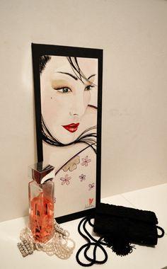 wall art #wallart#qupainting#arte#firenze#moda#quadro#acquarello#arredamento#home#casa#stile#geishe#ritratti
