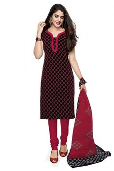 Georgette Casual Wear Churidar Suit in Pink and Black Colour.It comes with matching Duapatta and Bottom.It is crafted with Printed. Punjabi Salwar Suits, Churidar Suits, African Fashion, Indian Fashion, Online Shopping Stores, Traditional Dresses, Casual Wear, Celebrity Style, Women Wear