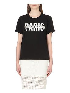 3ee8273bb9 5CM Paris Calling cotton t-shirt. T Shirt VestCat WomenPrintsVestsWoman  ClothingT ...