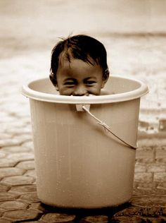 Who doesn't love a baby in a bucket?!