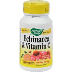 Natures Way Echinacea and Vitamin C - 492 mg - 100 Capsules - Natures Way Echinacea and Vitamin C Description: Premium Formula Immune Support Health and longevity through the healing power of nature - thats what it means to Trust the Leaf. Echinacea and Vitamin C is a powerful combination for supporting the immune system. Disclaimer These statements have not been evaluated by the FDA. These products are not intended to diagnose, treat, cure, or prevent any disease. Ingredients: Calcium…
