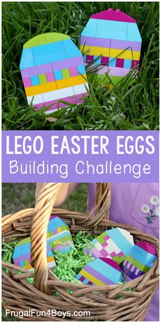 Build Colorful LEGO Easter Eggs - Frugal Fun For Boys and Gi.-Build Colorful LEGO Easter Eggs – Frugal Fun For Boys and Girls Build Colorful LEGO Easter Eggs – Fun Easter activity for kids! Display the eggs, or hide them for others to find. Easter Activities For Kids, Spring Activities, Easter Crafts For Kids, Holiday Activities, Stem Activities, Easter Eggs Kids, Kids Fun, Easter Ideas, Frugal