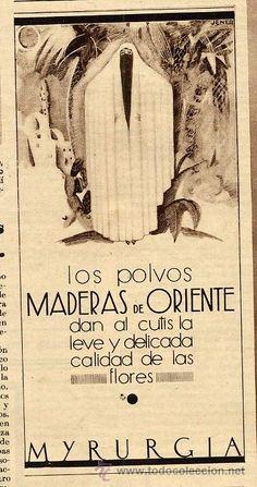 MYRURGIA 1932 MADERAS DE ORIENTE POLVOS - HOJA REVISTA