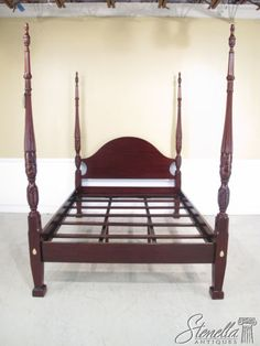 36073 Drexel Queen Size Mahogany Rice Carved Bed 1050 Bedroom Pinterest