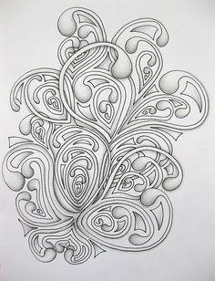 Really creative stuff. Tangle Doodle, Tangle Art, Zen Doodle, Doodle Art, Zentangle Drawings, Doodles Zentangles, Zentangle Patterns, Doodle Drawings, Doodle Inspiration