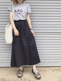 ukapi A.P.C.のTシャツ/カットソーを使ったコーディネート - WEAR
