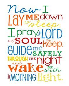Now I Lay Me Down to Sleep Prayer Boy by LibertyAndLilacPaper