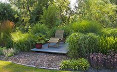 Pflegeleichter Garten mit Sitzplatz