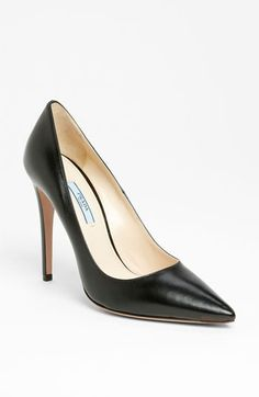 Classic black pump...the budget buster. LOL. Prada Pointed Toe Pump | Nordstrom