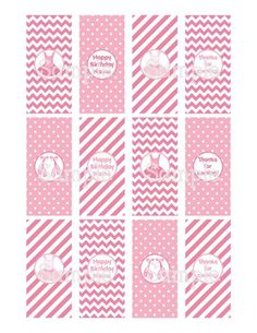 Printable Vintage Pink Ballerina Mini Hershey's Candy Bar Wrappers | aMerAZNStyLe - Digital Art  on ArtFire