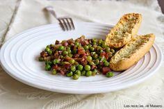 Guisantes con jamón salteados, Receta Petitchef Baked Potato, Green Beans, Grains, Menu, Rice, Chicken, Vegetables, Cooking, Healthy