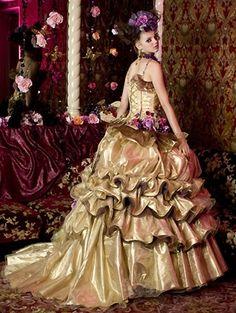 Wedding Dress Fantasy - Gold Wedding Dress - Available in every color., $779.00 (http://www.weddingdressfantasy.com/gold-wedding-dress-available-in-every-color/)