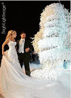 Beautiful Lebanese Wedding Cake but is it over the top?