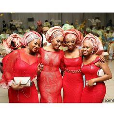 Nigerian wedding Aso ebi styles