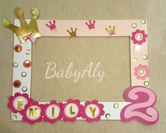 Photo Booth Frame Princess by BeBeAly on Etsy