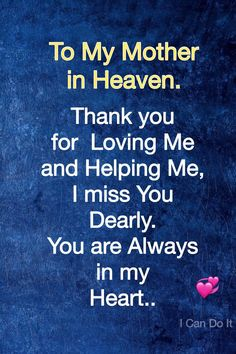 I miss my mom everyday but today I miss her more than ever Mom I Miss You, I Love Mom, Mom In Heaven Quotes, Missing Mom In Heaven, Miss My Mom Quotes, Thank You Mom Quotes, Missing Family Quotes, Missing Loved Ones, Mom Quotes From Daughter