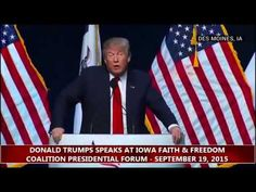 "Donald Trump Speech Iowa Faith & Freedom Coalition Donald Trump brings his Bible. Donald Trump begins his speech by showing off his ""I brought my Bible with me"" Newz Viewz - Subscribe for updates"